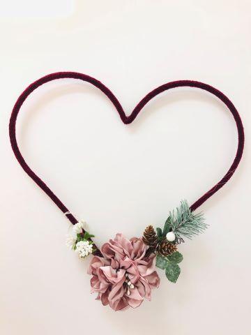 cuore rosso peonia cipria